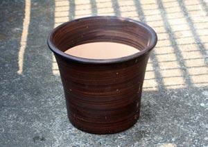 テラコッタ8号鉢(素焼きの鉢)