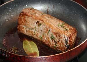 ローストビーフの調理で使ったローリエの葉